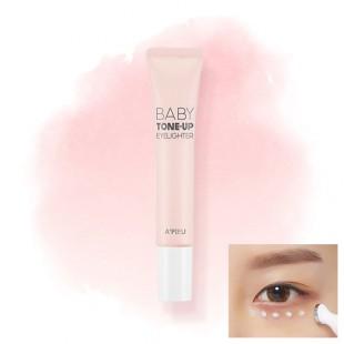 A'PIEU Baby Tone-Up Eyelighter 15ml/Осветляющий крем для кожи вокруг глаз
