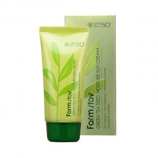 FARMSTAY Green Tea Seed Moisture Sun Cream SPF 50+PA+++/Крем солнцезащитный с семенами зеленого чая 70 г.