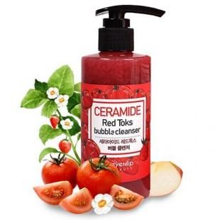 EYENLIP Ceramide Red Toks Bubble Cleanser/Пузырьковая детокс-пенка с керамидами 200 мл.