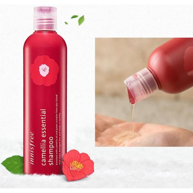 INNISFREE Camellia Essential Shampoo/Бессиликоновый шампунь с маслом камелии