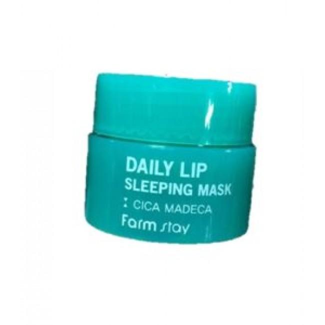 FARMSTAY Daily Lip Sleeping Mask Cica Madeca/Ночная маска для губ с центеллой азиатской 3 мл.