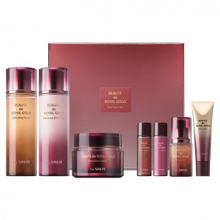 THE SAEM Beaute De Royal Gold Skin Care 3 Set/Набор антивозрастных премиум-средств с золотом,муцином улитки и женьшенем