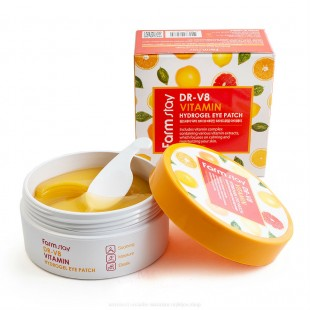 FARMSTAY DR-V8 Vitamin Hydrogel Eye Patch / Гидрогелевые патчи с витаминами 60шт