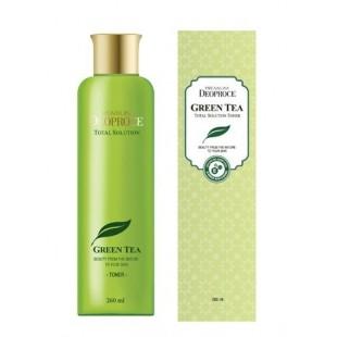 DEOPROCE Premium Green Tea Total Solution Toner 260 ml/Тоник с экстрактом зеленого чая, 260 мл
