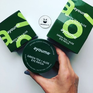 AYOUME Green Tea + Aloe Eye Patch 60шт/Патчи для глаз с экстрактами зеленого чая и алое