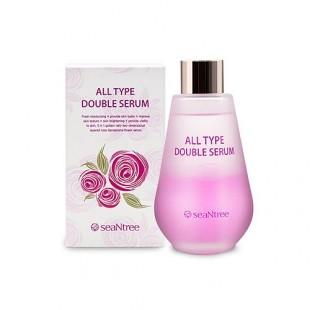 SeaNtree All Type Double Serum/Двухфазная сыворотка с розовой водой  100мл