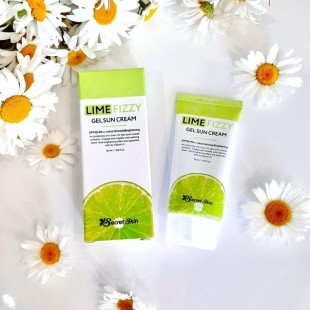 SECRET SKIN Lime Fizzy Gel Sun Cream/Солнцезащитный крем с экстрактом лайма 50 мл.