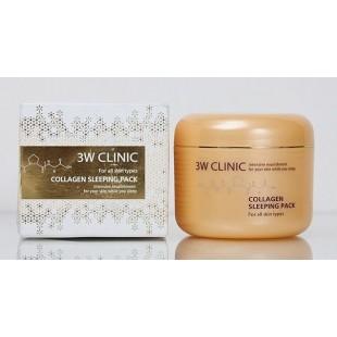 3W Clinic Collagen Sleeping Pack/Ночная маска с коллагеном 100ml