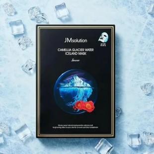 JM SOLUTION Camellia Glacier Water Iceland Mask Snow/Маска тканевая тонизирующая с экстрактом камелии 30 мл.