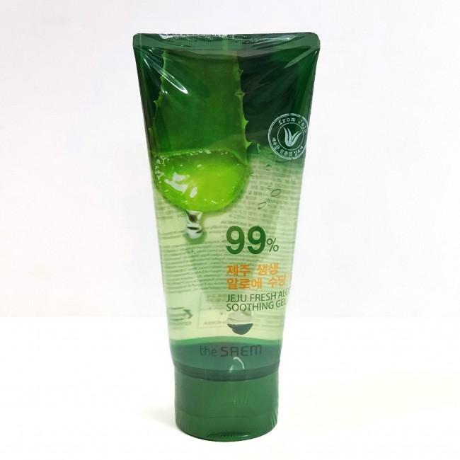 THE SAEM Jeju Fresh Aloe Soothing Gel 99% 120 ml/Гель-крем с 99% Aloe Vera 120 мл
