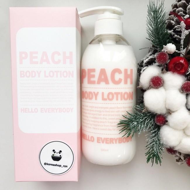 Hello Everybody Nature Holic Peach Body Lotion/Осветляющий лосьон для тела с экстрактом персика