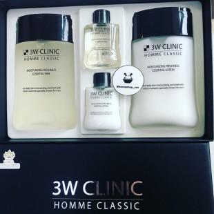 3W Clinic Homme Classic Moisturizing Freshness Skin Care Set / Увлажняющий освежающий набор для мужчин