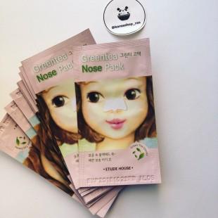 ETUDE HOUSE Green Tea Nose Pack/ Очищающие полоски с экстрактом зеленого чая для носа  1шт