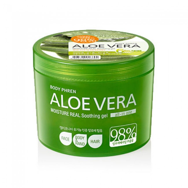 WELCOS Aloe Vera Moisture Real Soothing Gel /Универсальный гель с алоэ вера 500 мл