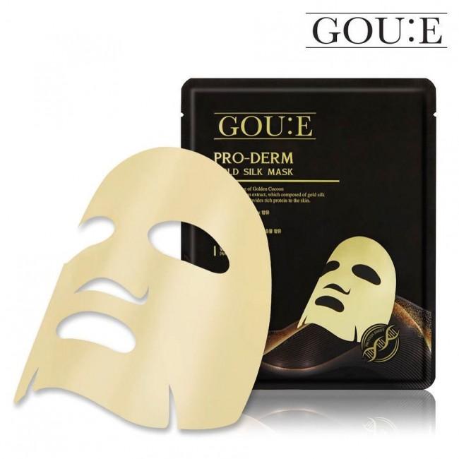 GOU:E Pro-Derm Gold Silk Mask/Антивозрастная тканевая маска с протеином золотых коконов шелкопряда