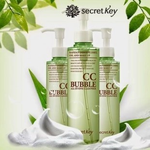 SECRET KEY CC Bubble All in One Cleanser/Многофункциональное средство для очищения кожи от СС и ББ макияжа 210мл