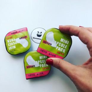 Scinic Mini Capsule Pack Green Tea/Капсульная увлажняюща маска с экстрактом зеленого чая