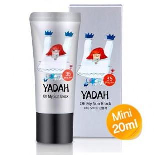 YADAH Oh My Sun Block Mini SPF35 PA++/Успокаивающий солнцезащитный крем SPF35 PA++, 20 мл