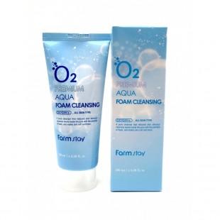 FARMSTAY O2 Premium Aqua Foam Cleansing 100ml/Кислородная пенка для умывания