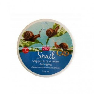 BANNA Snail Collagen&Q 10 Cream/Крем для тела с муцином улитки 250 мл.