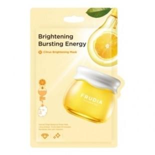 FRUDIA Citrus Brightening Mask/Маска тканевая тонизирующая с экстрактом цедры мандарина 20 мл.