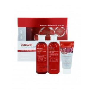 FARMSTAY Collagen Essential Moisture Skin Care 3 Set/Набор средств для интенсивного увлажнения и укрепления кожи с коллагеном