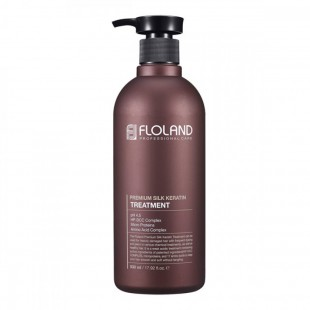 FLOLAND Premium Silk Keratin Treatment/Маска для волос с кератином 530 мл.
