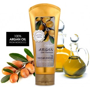 CONFUME Argan Gold Treatment /Увлажняющая маска с аргановым маслом и с золотом для поврежденных волос 200мл
