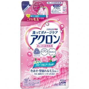Lion Acron /Жидкое средство для стирки деликатных тканей с цветочным ароматом 400 мл (запасной блок)