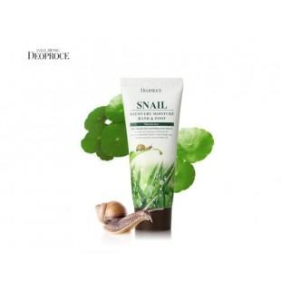 DEOPROCE Snail Recovery Moisture Hand & Foot/Крем с муцином улитки для кожи рук и ног