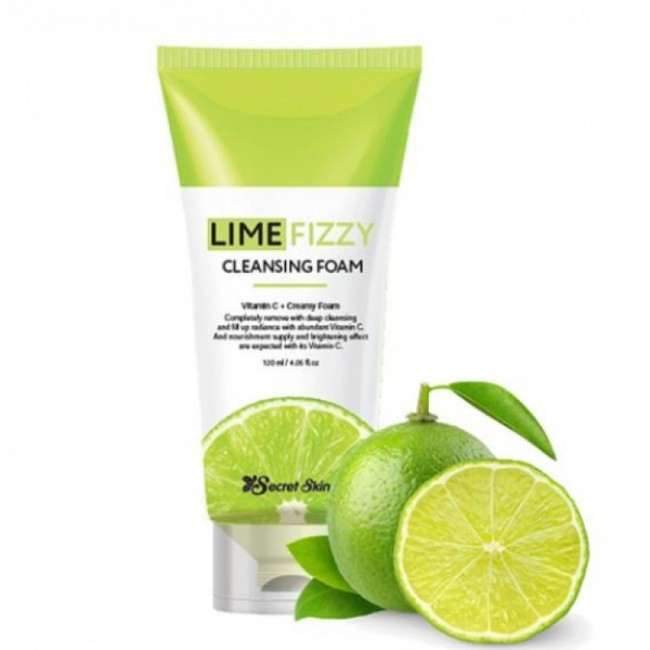 SECRET SKIN Lime Fizzy Cleansing Foam/Пенка для умывания с экстрактом лайма 120мл.