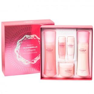 Deoproce Cleanbello Collagen Essential Moisture Skin Care/ Набор для ухода за кожей лица с гидролизованным коллагеном 3 Set
