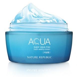 Nature Republic SUPER AQUA MAX FRESH WATERY CREAM/Освежающий увлажняющий крем-гель 80мл