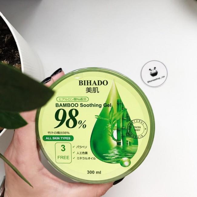 BIHADO Bamboo Soothing Gel/Увлажняющий гель для лица и тела с экстрактом бамбука 300 мл