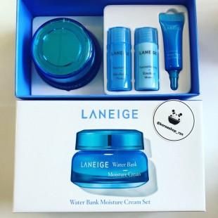 Laneige Water Bank Moisture Cream (+миниатюры тонер, эмульсия, Гель для глаз 15мл+15мл+3мл)