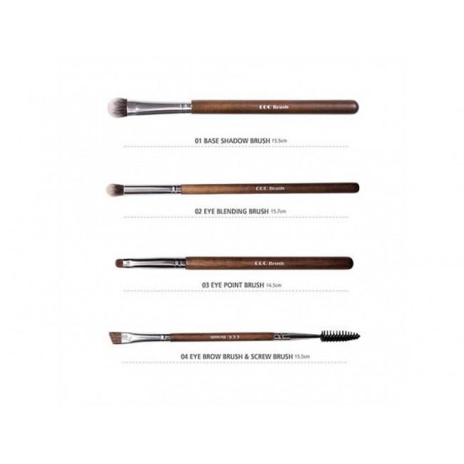 CORINGCO Real Collectors Edition 4P Set/Набор из 4 кистей для макияжа глаз