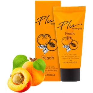 Plu Facial Intensive Soft Peeling Gel Peach/Мягкая пилинг-скатка для лица с экстрактом персика