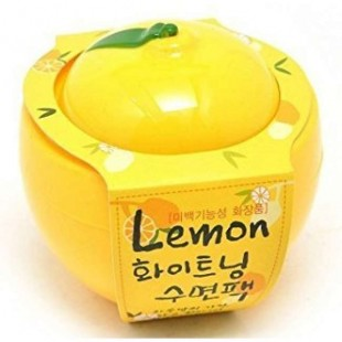 BAVIPHAT Urban Dollkiss Lemon Vitamin Whitening Sleeping Pack/Ночная осветляющая маска с экстрактом лимона 100 мл