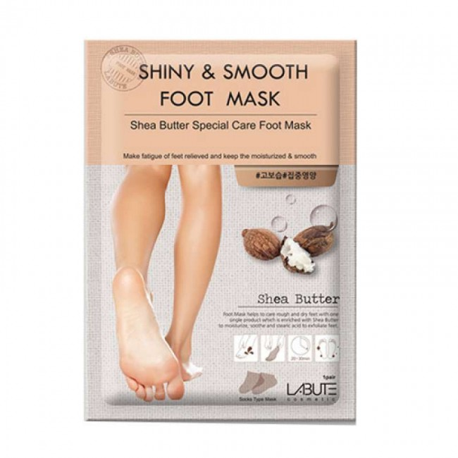 Labute Shiny&Smooth Foot Mask/Маска для ног с маслом ши