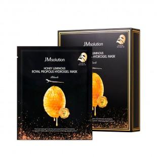 JM SOLUTION Honey Luminous Royal Propolis Hydrogel Mask Black/Маска гидрогелевая с экстрактом прополиса 30 мл.