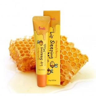 PRRETI Lip Sleeping Mask Honey&Berry/Маска для губ ночная мёд и ягодный микс 15г.