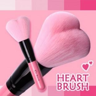 """""""Coringco Lovely Pink Heart Multi-Volume Brush"""" /Объемная кисть оригинальной формы в виде сердца"""