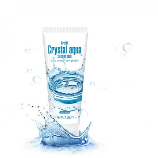 THE ORCHID SKIN Crystal Aqua Sleeping Pack/Суперувлажняющая антивозрастная ночная маска для лица