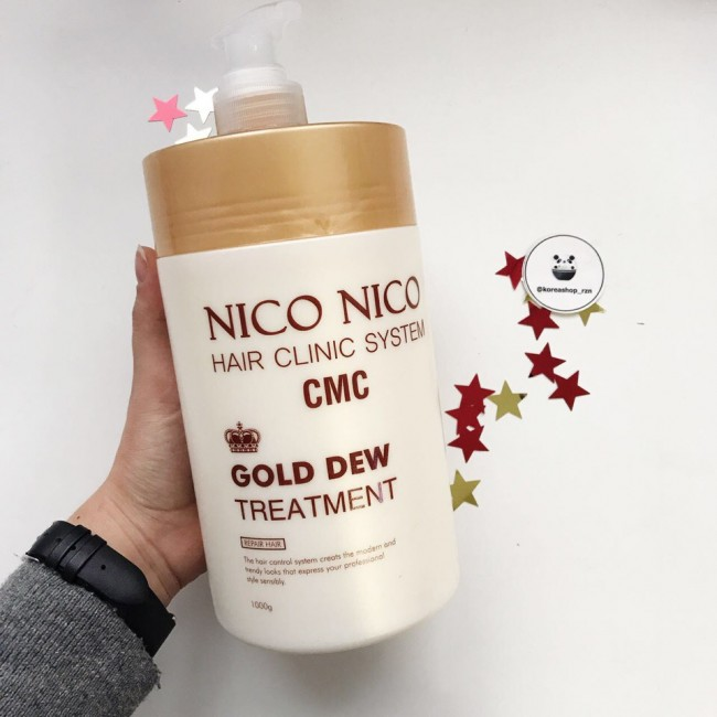 Nico nico hair clinic system treatment cmc gold dew treatment/Золотая маска для волос восстанавливающая 1000 ml