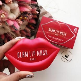 Beauugreen Hydrogel Glam Lip Mask Rose/Гидрогелевые патчи для губ с розой