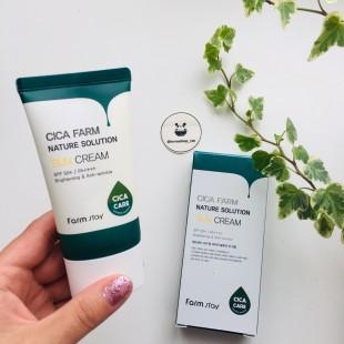 Farmstay Cica Farm nature solution sun cream/ Солнцезащитный крем с экстрактом центеллы 50гр