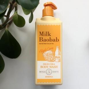 MILK BAOBAB High Cera Body Wash Mimosa/Гель для душа с ароматом мимозы 500 мл.