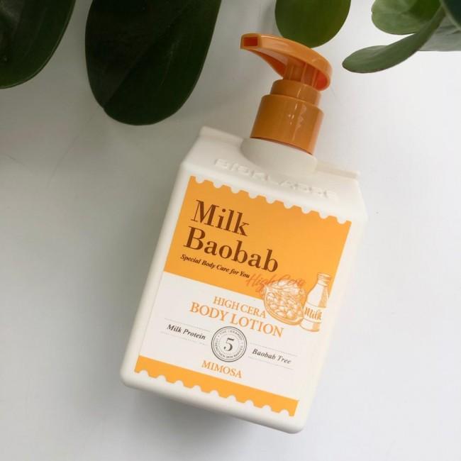 MILK BAOBAB High Cera Body Lotion Mimosa/Лосьон для тела с ароматом мимозы 250 мл.