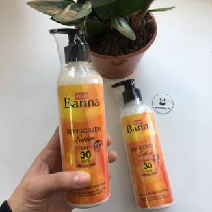 BANNA sunscreen lotion SPF30/RA+++/ Солнцезащитный лосьон для лица и тела 360мл.