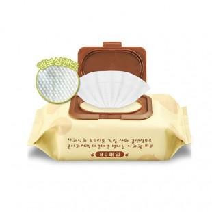 CALMIA Premium Apple Peeling Cleansing Tissue/Очищающие пилинг-салфетки 80шт